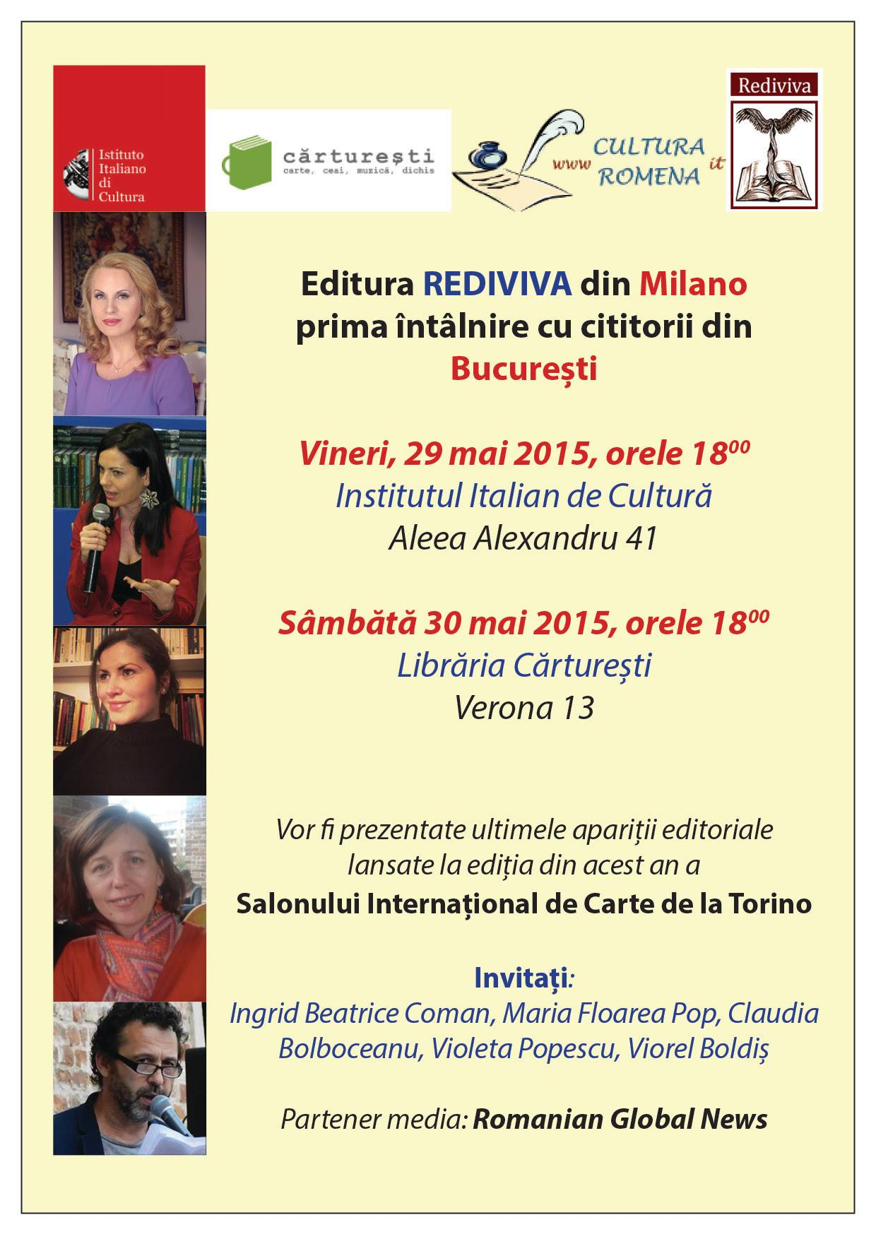 Editura Rediviva din Milano la prima sa întâlnire cu cititorii din București