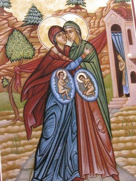 Mantuitorul si Ioan Botezatorul in pantece