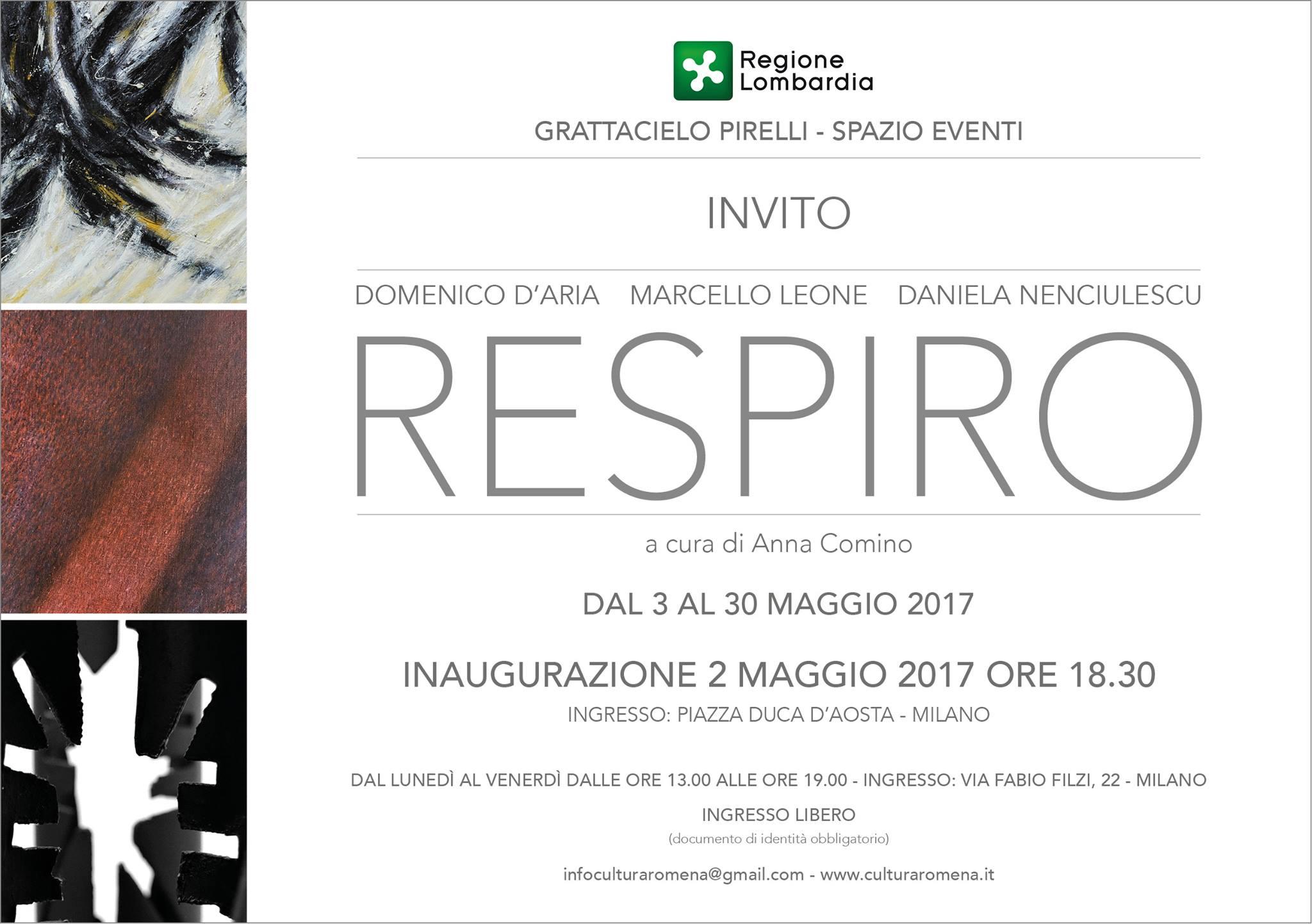Artista Daniela Nenciulescu presente nella mostra RESPIRO – Grattacielo Pirelli Milano