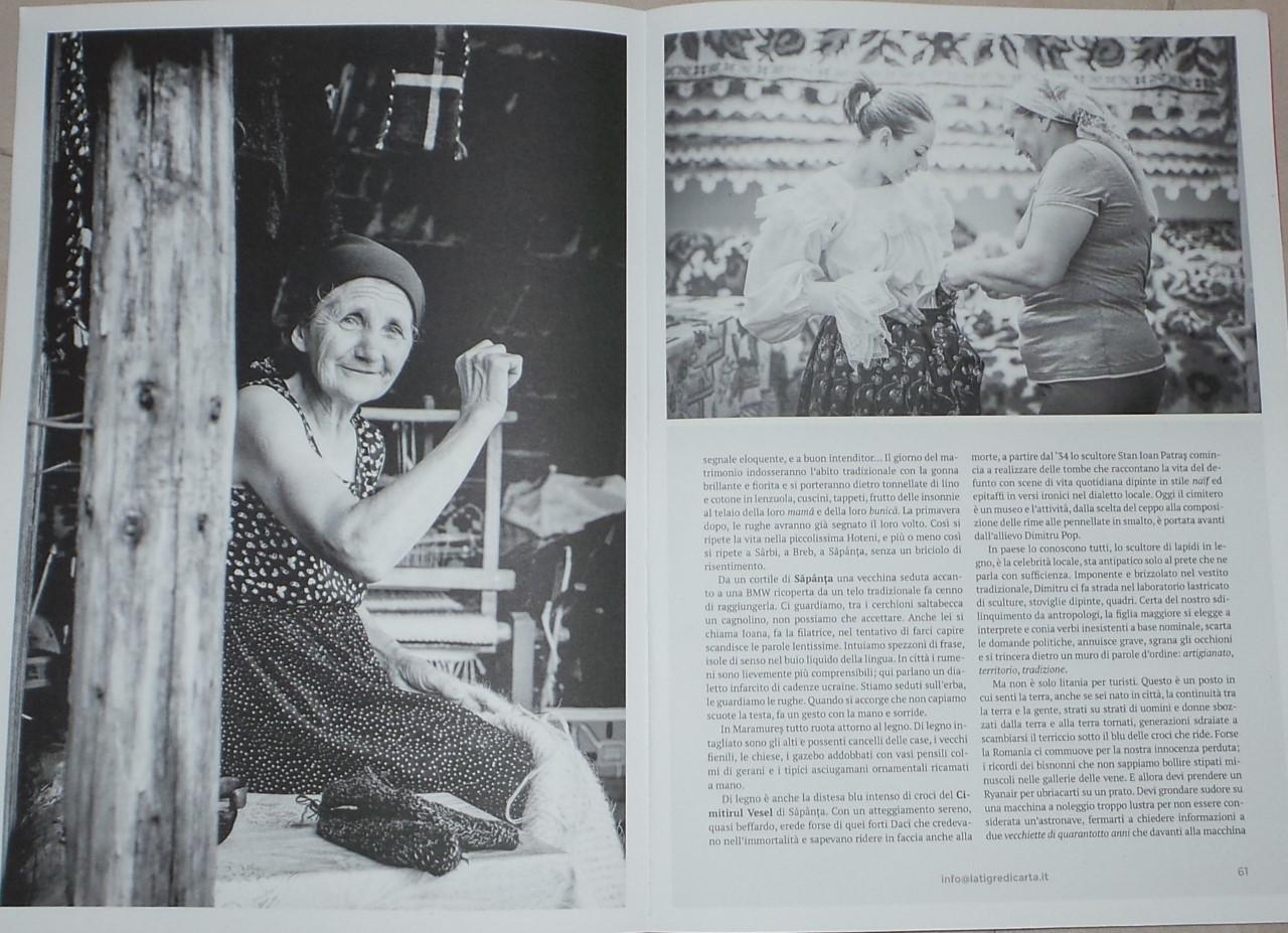 Fotografii și reportaje dedicate României, în ultimul număr al revistei milaneze La Tigre di carta – octombrie 2017