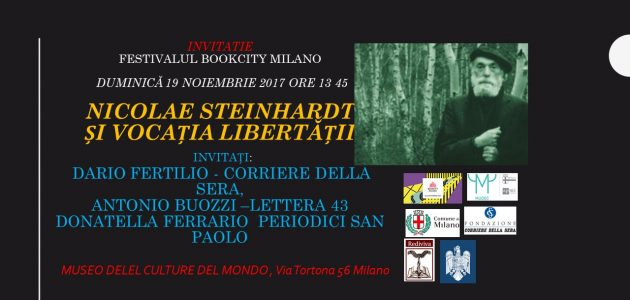 """""""Jurnalul fericirii"""" de N. Steinhardt va fi prezentat la Festivalul Internațional BOOKCITY din Milano"""