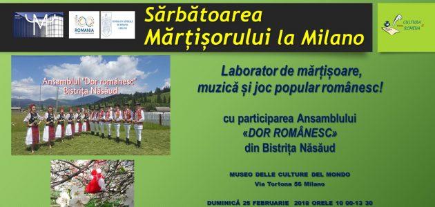 Mărțișorul va fi sărbătorit la Muzeul Culturilor Lumii din Milano (MUDEC)