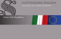 """In uscita presso la Biblioteca del Senato: """"Costituzione italiana. Edizione in lingua romena"""" 2018"""