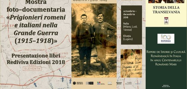 """Festivalul Internațional Bookcity Milano: """"Centenarul Marii Uniri a României 1918-2018"""""""