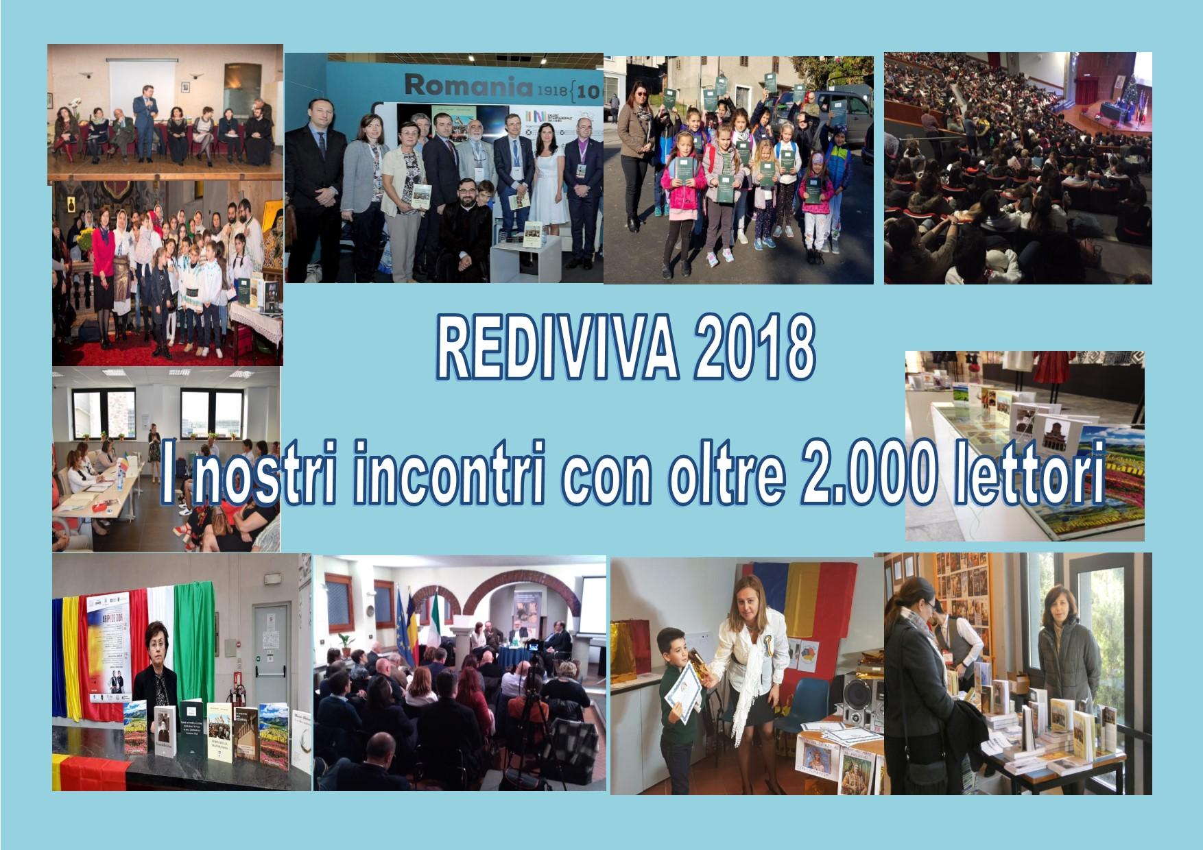 RETROSPETTIVA EDIZIONI REDIVIVA 2018. Incontri: Italia, Svizzera e Romania