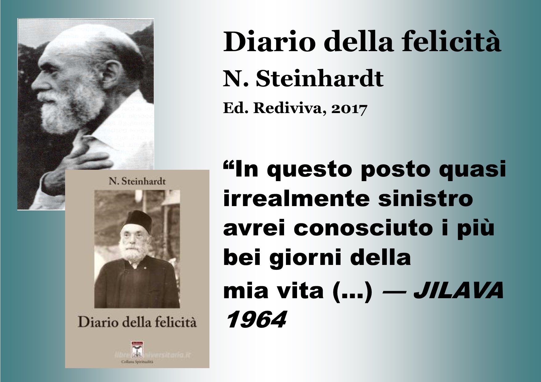 """Diario della felicità"" di Nicu Steinhardt"