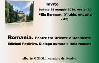 Comunicat editura Rediviva. Prezență românească la Festivalul Culturii din Arcore – Monza Brianza
