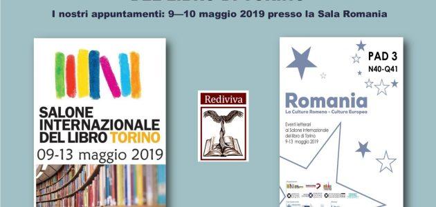 Rediviva edizioni al Salone Internazionale del Libro di Torino. Appuntamenti 9-10 maggio 2019