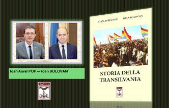 """Volumul """"Istoria Transilvaniei"""" de Ioan Aurel Pop si Ioan Bolovan, ed. Rediviva, în traducere italiană, ajunge în bibliotecile și departamentele de istorie din cadrul unor Universități italiene"""