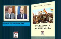 """Il volume """"Storia della Transilvania"""" di Ioan Aurel Pop e Ioan Bolovan ed. Rediviva, arriva nelle biblioteche universitarie e i dipartimenti di storia"""