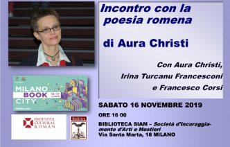 La poetessa Aura Christi al Festival Bookcity di Milano