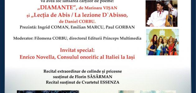 """MILANO. Editura Rediviva la Iași. Dublă lansare de carte: Daniel CORBU și Marioara VIȘAN la Muzeul Municipal """"Regina Maria"""""""