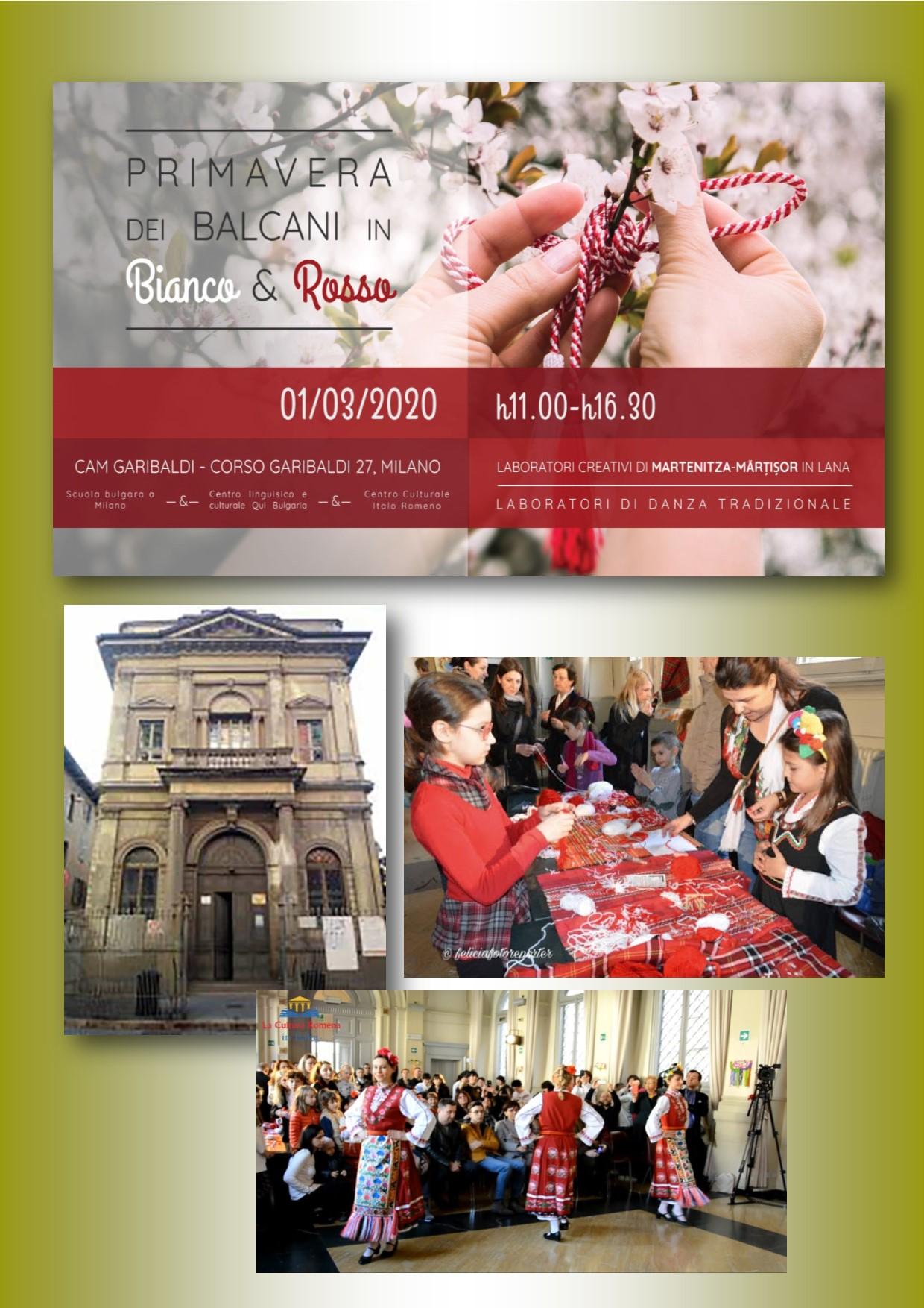 """Milano. """"Primavera dei Balcani in bianco e rosso"""": al via una nuova edizione 1 marzo 2020"""