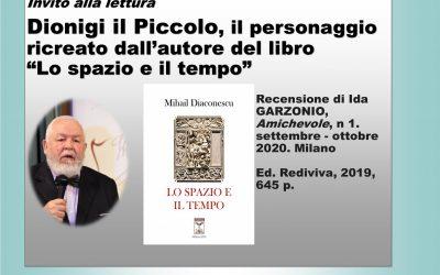 """Invito alla lettura: Dionigi il Piccolo, il personaggio ricreato dall'autore del libro """"Lo spazio e il tempo"""""""