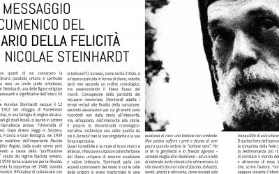 """Armando Santarelli: Il messaggio ecumenico del """"Diario della felicità"""" di Nicolae Steinhardt, rivista Tendopoli – aprile 2021"""